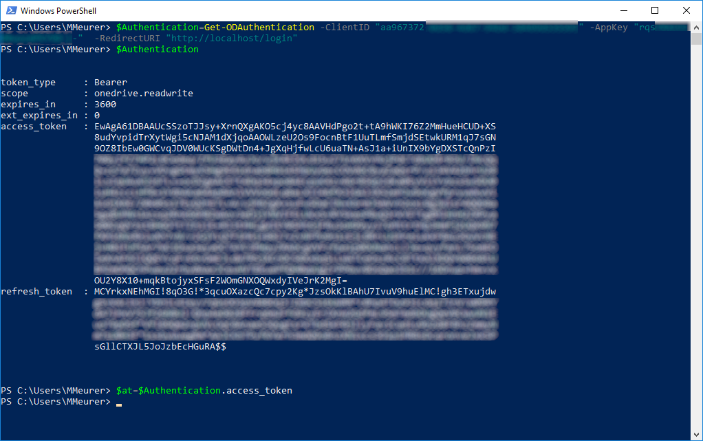 Working with the OneDrive PowerShell Module