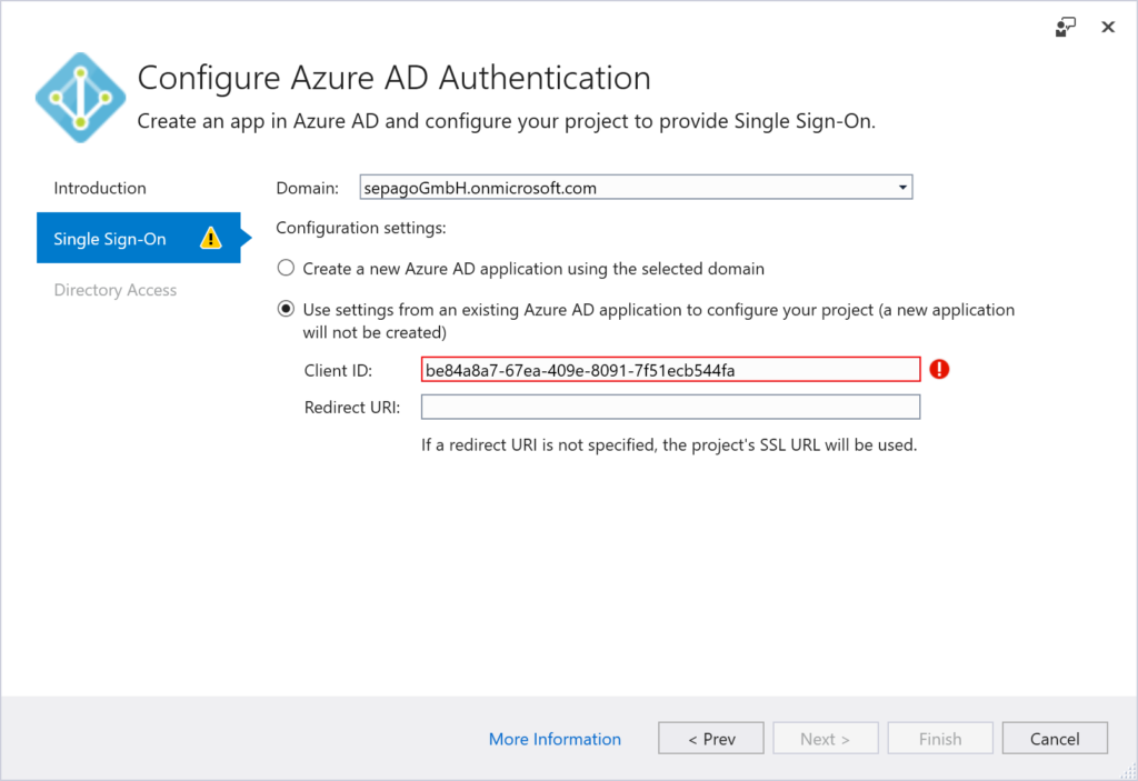 Why configuring Azure AD authentication with an Azure Web App fails
